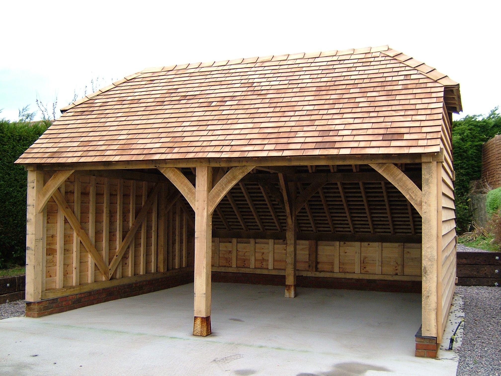 Two Bay Oak Framed Garage Kit! Self build DIY garages from