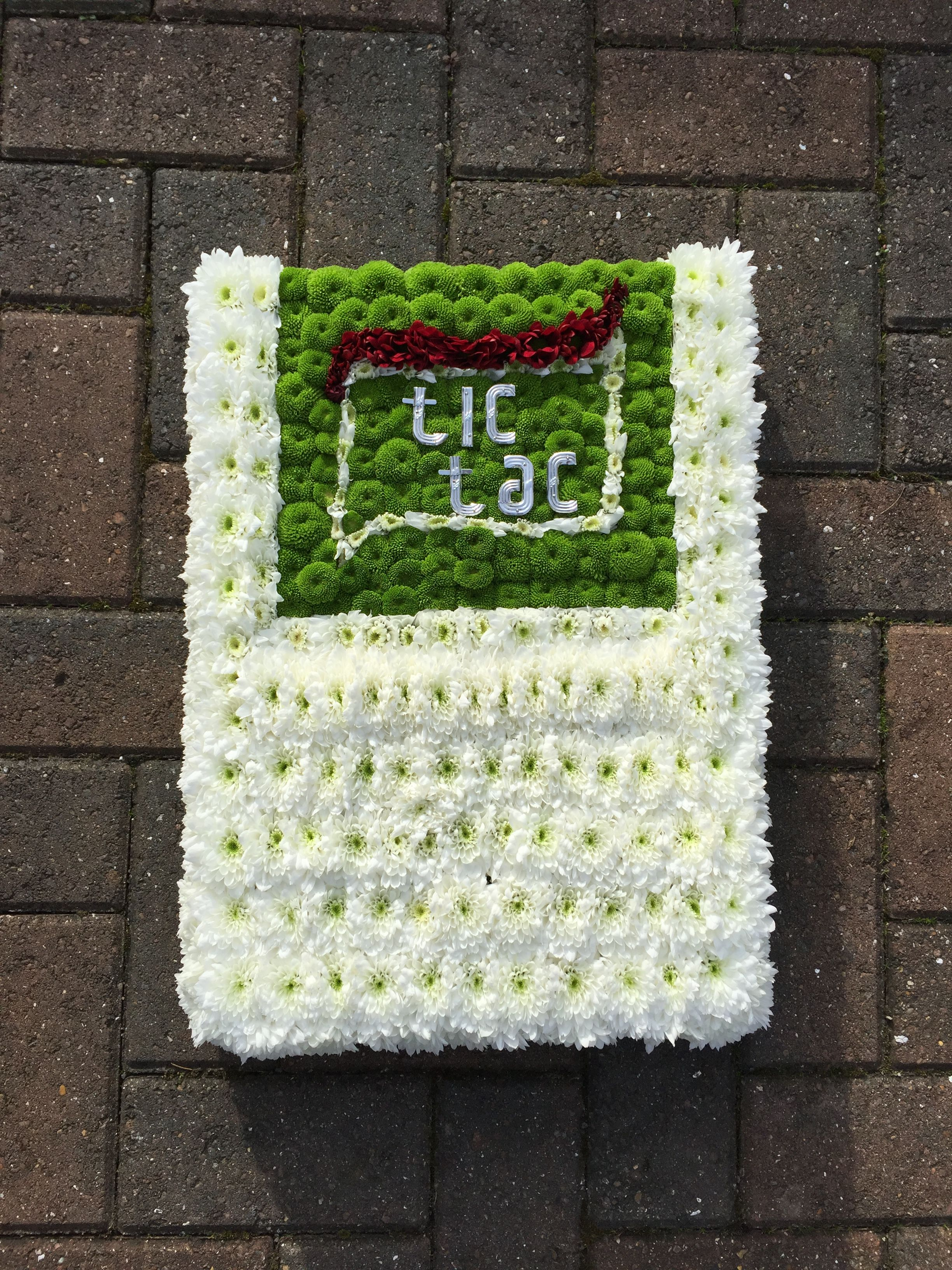 A packet of tic tac breath mints in funeral tribute form a touching a packet of tic tac breath mints in funeral tribute form a touching alternative to traditional sympathy flowers izmirmasajfo
