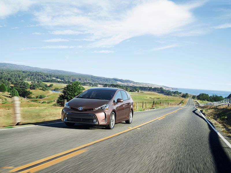 2015 #Toyota #Prius #V hybrid mid-sized wagon combines the frugality of a hybrid with the generous passenger space