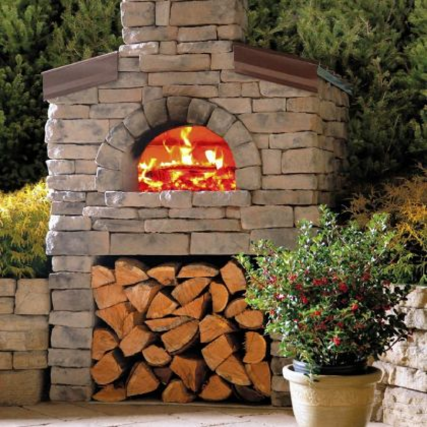 Lampus Co S Wood Burning Pizza Oven Comes Assembled Or In A Build It Outdoor Kitchen Countertops Outdoor Oven Pizza Oven