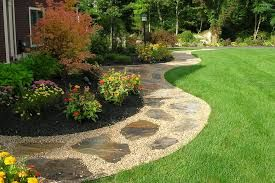 Image Result For Pea Gravel Walkway With Stepping Stones