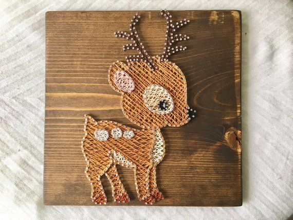 Woodland Creatures String art, Woodland Nursery Decor, MADE TO ORDER - #Art #creatures #Decor #nursery #order #String #Woodland #stringart