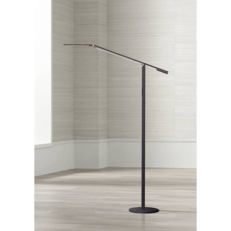 Gen 3 Equo Warm Light Led Black Floor Lamp With Touch Dimmer V6957 Lamps Plus In 2020 Black Floor Lamp Led Floor Lamp Floor Lamp