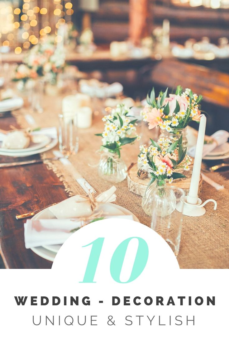 Wedding dinner decoration ideas  Fantastic Wedding Decorations Ideas Libraries  Awesome And