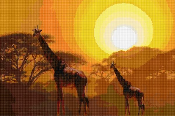 Safari sunset (cross stitch) - other option for a gift for my dad