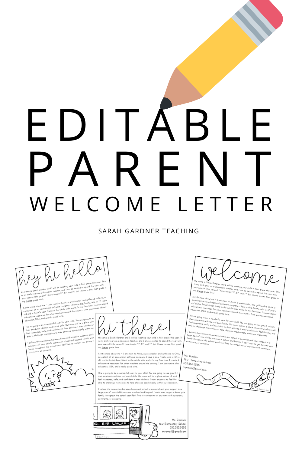 Editable Back to School Parent Welcome Letter in 2020