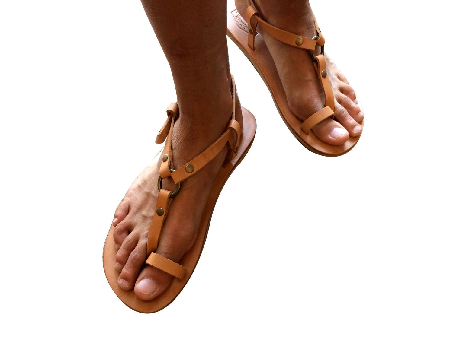 Womens sandals etsy - Tan Leather Sandals For Women Men Design 33a Handmade Leather Sandals Casual Leather Flats Unisex Sandals Genuine Leather S