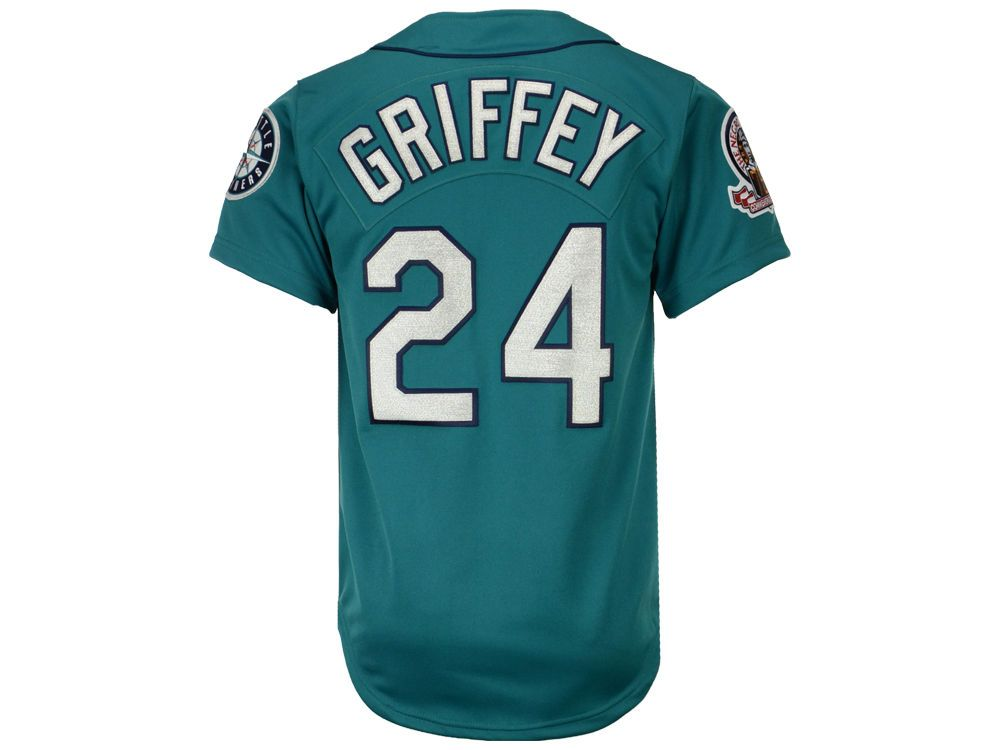 competitive price 26cd7 73175 Seattle Mariners Ken Griffey Jr. Mitchell & Ness MLB Men's ...