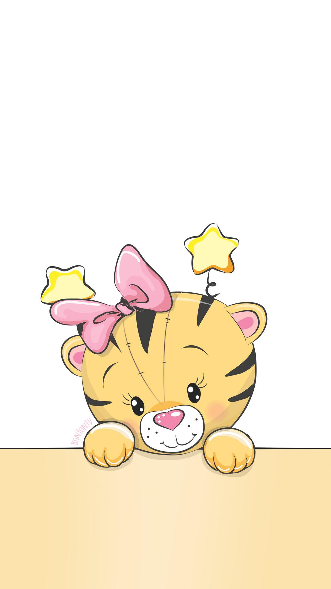 Phone Wallpapers Hd Cute Tiger By Bonton Tv Free Backgrounds 1080x1920 Wallpapers Iphone Smartphone Here You Ca Desenhos Lindos Desenhos Planos De Fundo