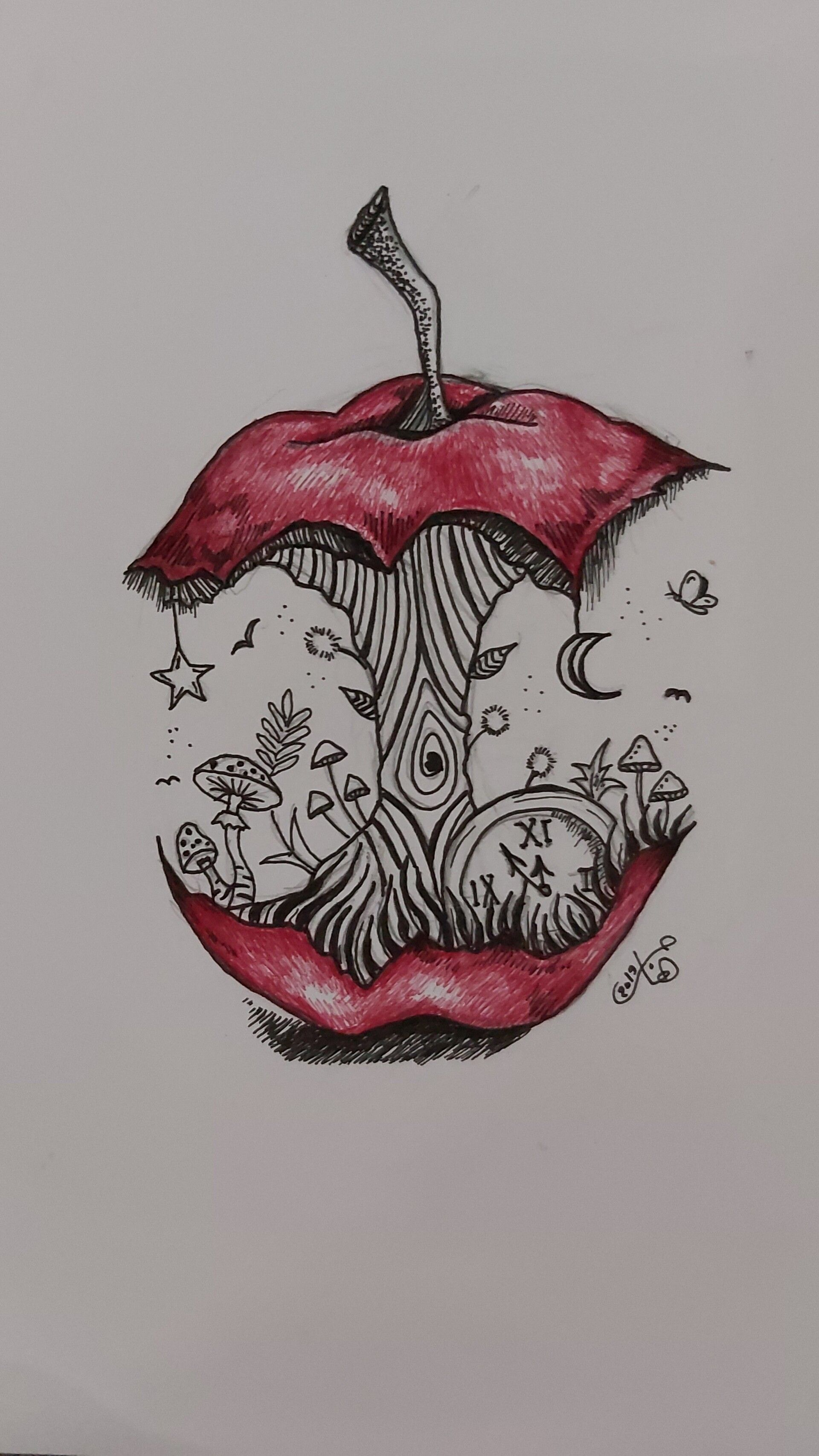 Ripe Inktober Anotherlife By Hagar Mahmouddon T Try To Be Perfect Art Drawings Sketches Creative Dark Art Drawings Art Sketches Doodles