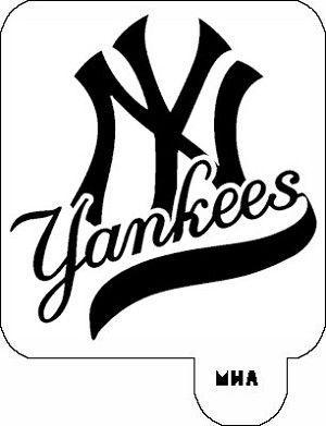 Mr Hair Art Stencil New York Yankees Logo Mha 494 New York Yankees Logo Yankees Logo New York Yankees