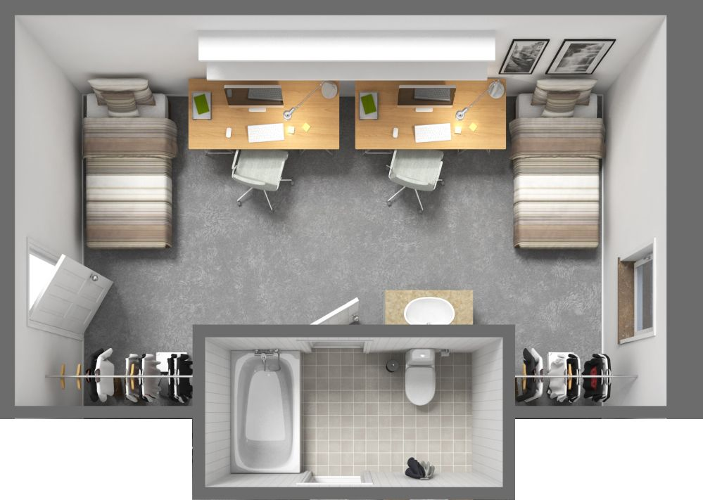 Our Double Floor Plan Is Spacious Enough For Both You And Your Roommate Each Room Offers A Semi