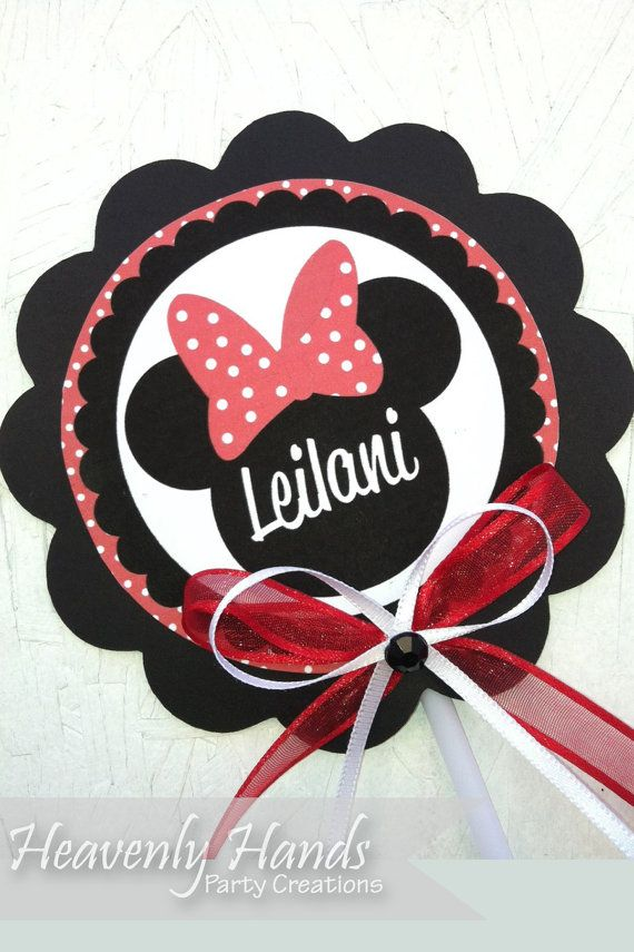 Minnie Mouse Personalized Centerpiece Topper
