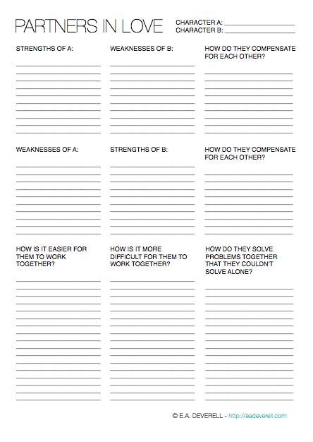 Character Relationships (Writing Worksheet Wednesday ...