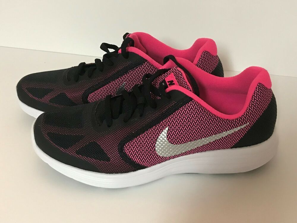 Nike Revolution 3 Gs 819416 001 Black Silver Pink Youth Us Size