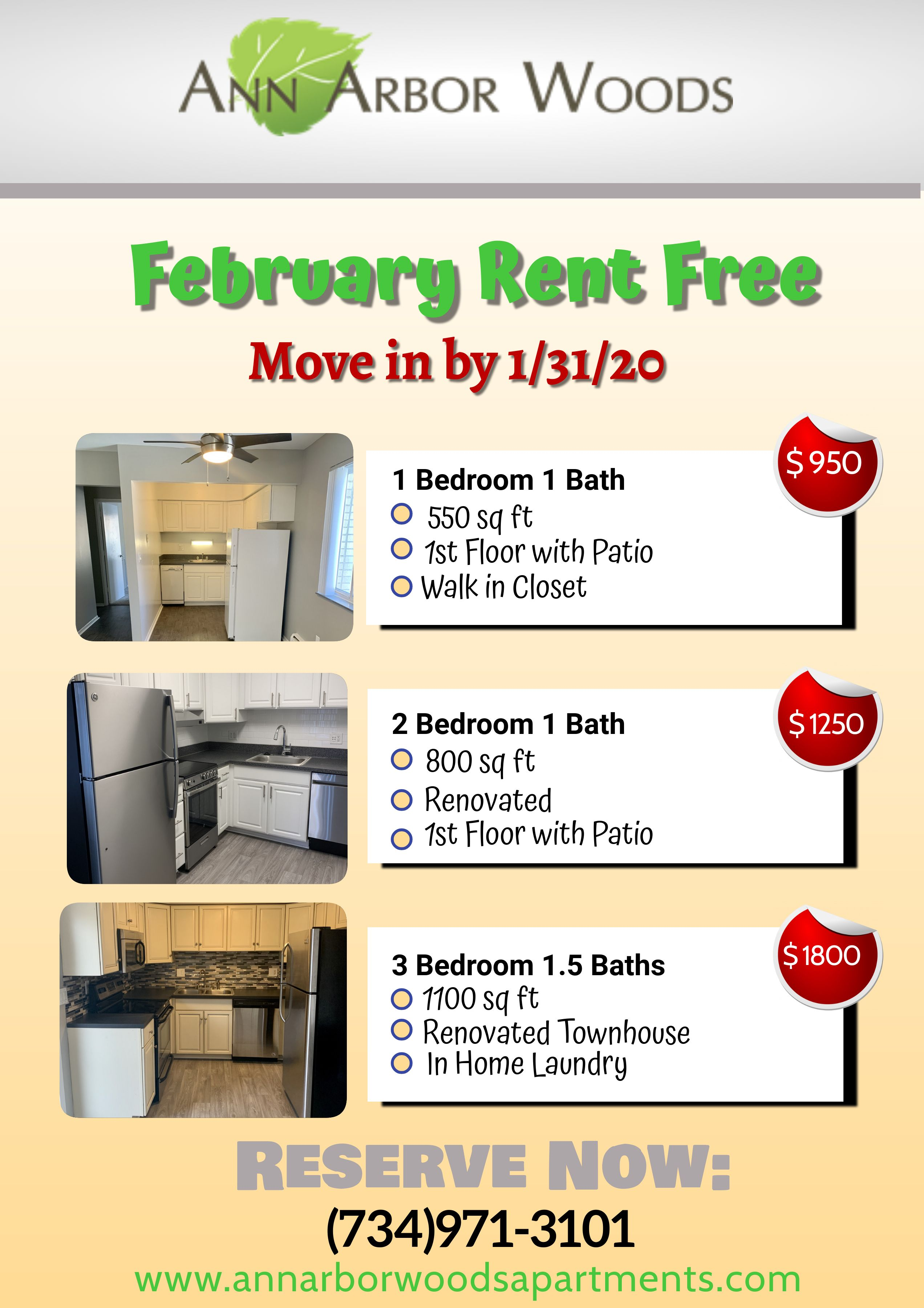 February Rent Free New Homes Free Move Renovations