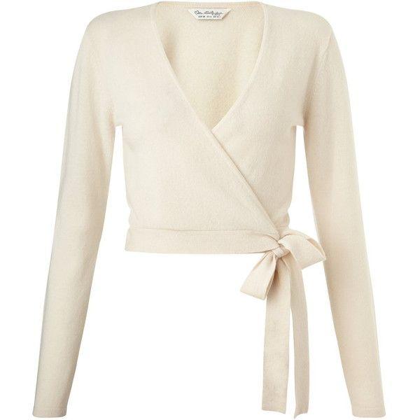 Miss Selfridge Cream Cashmere Wrap Cardi (1,070 MXN) ❤ liked on ...