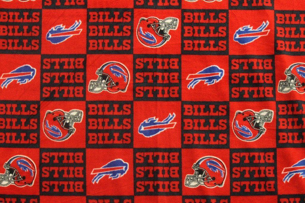 Buffalo Bills Block Fleece Fabric Nfl buffalo bills