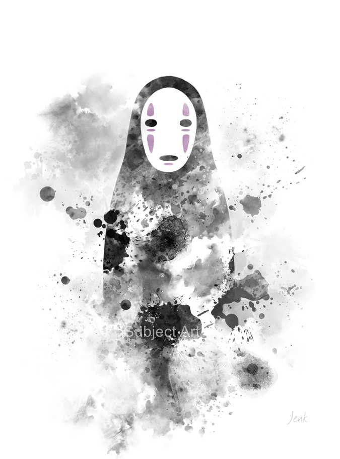No Face Spirited Away Art Print Illustration Studio By Subjectart Studio Ghibli Art Ghibli Art Ghibli Tattoo
