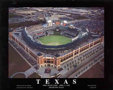 Texas Rangers Field Night Game Aerial Photo Texas Rangers Ranger Stadium Texas Rangers Ballpark
