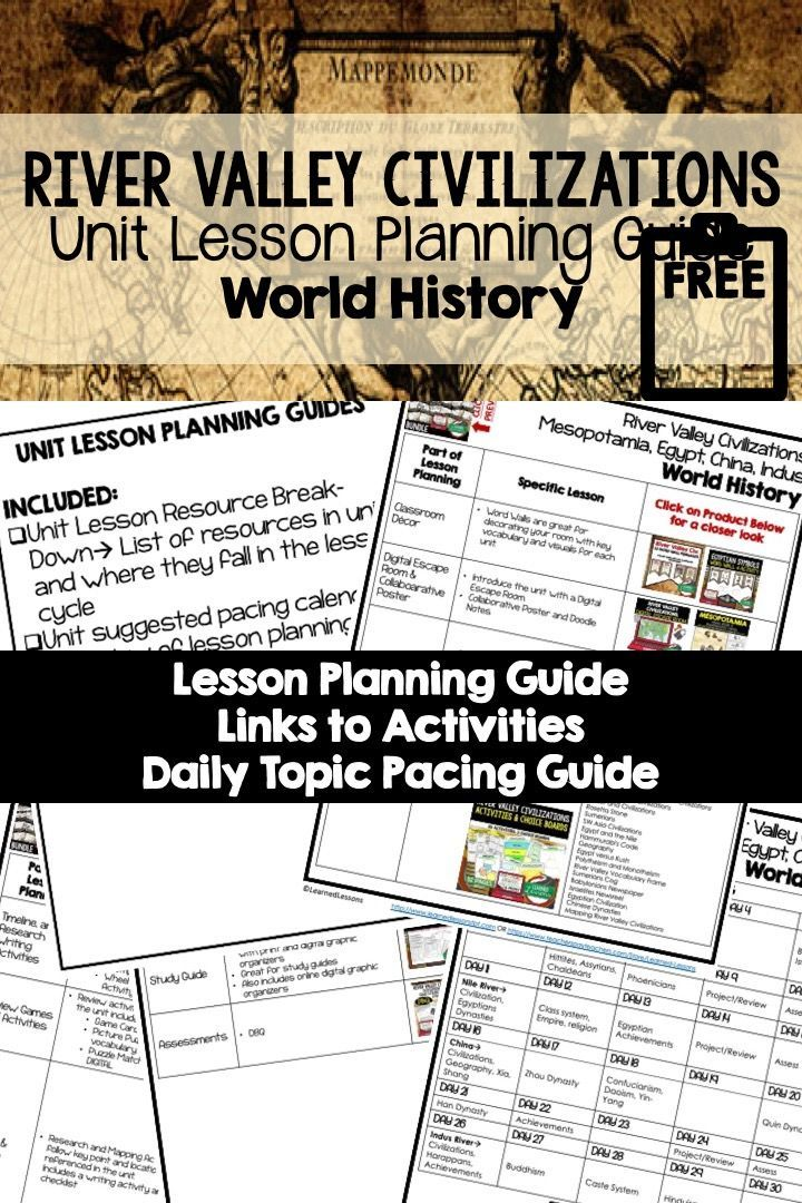 Photo of River Valley Civilizations Lesson Plan Guide, Back To School