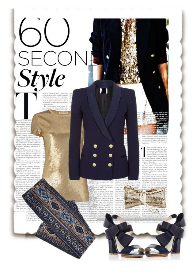 """""""Daily sequins"""" by gagenna ❤ liked on Polyvore featuring Michael Kors, Pierre Balmain and Delpozo"""