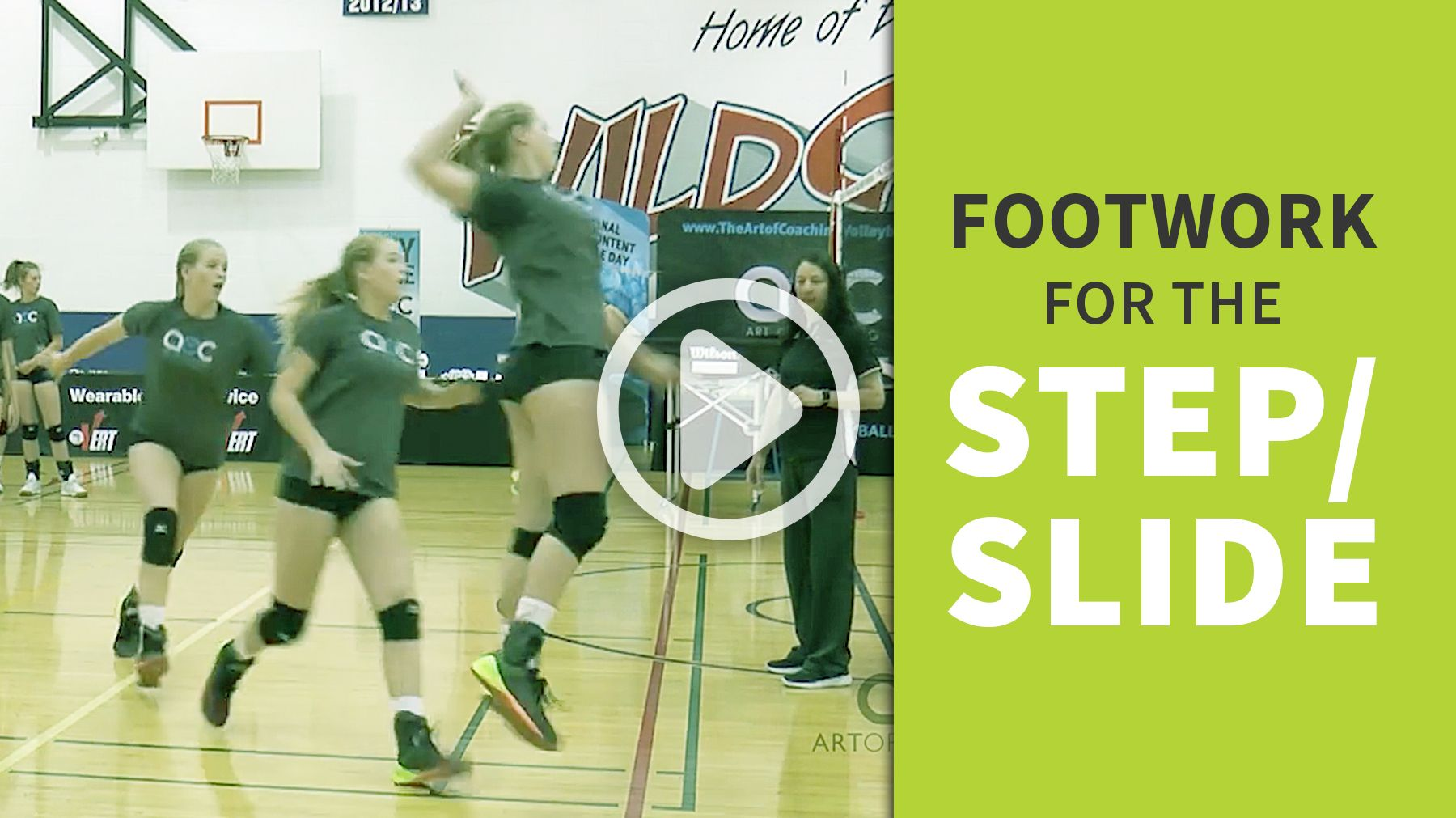 Attacking Mechanics Footwork For The Step Slide The Art Of Coaching Volleyball Coaching Volleyball Volleyball Volleyball Drills