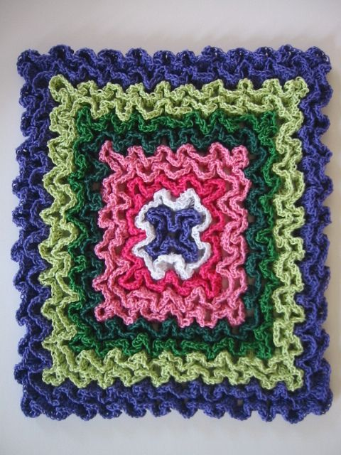 Free Pattern] These Hot Pads Are Crocheted In Rug Yarn For Thick ...