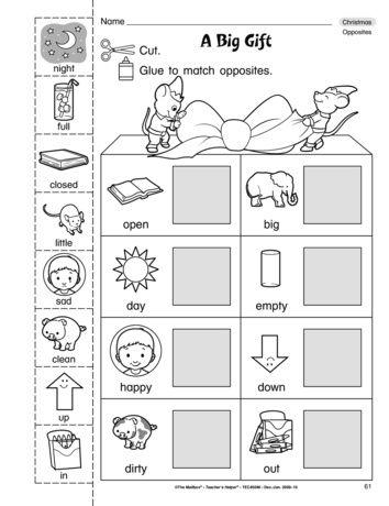A Big Gift Lesson Plans The Mailbox Opposites Worksheet Opposites Preschool English Worksheets For Kids Opposites worksheet kindergarten