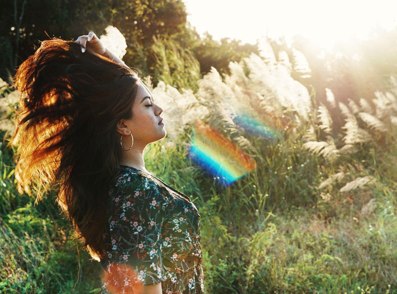 Boho Fashion Blogger Hair Flip