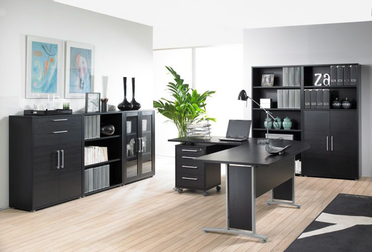 Bookcase PRIMA 5 (221/89 cm) – black