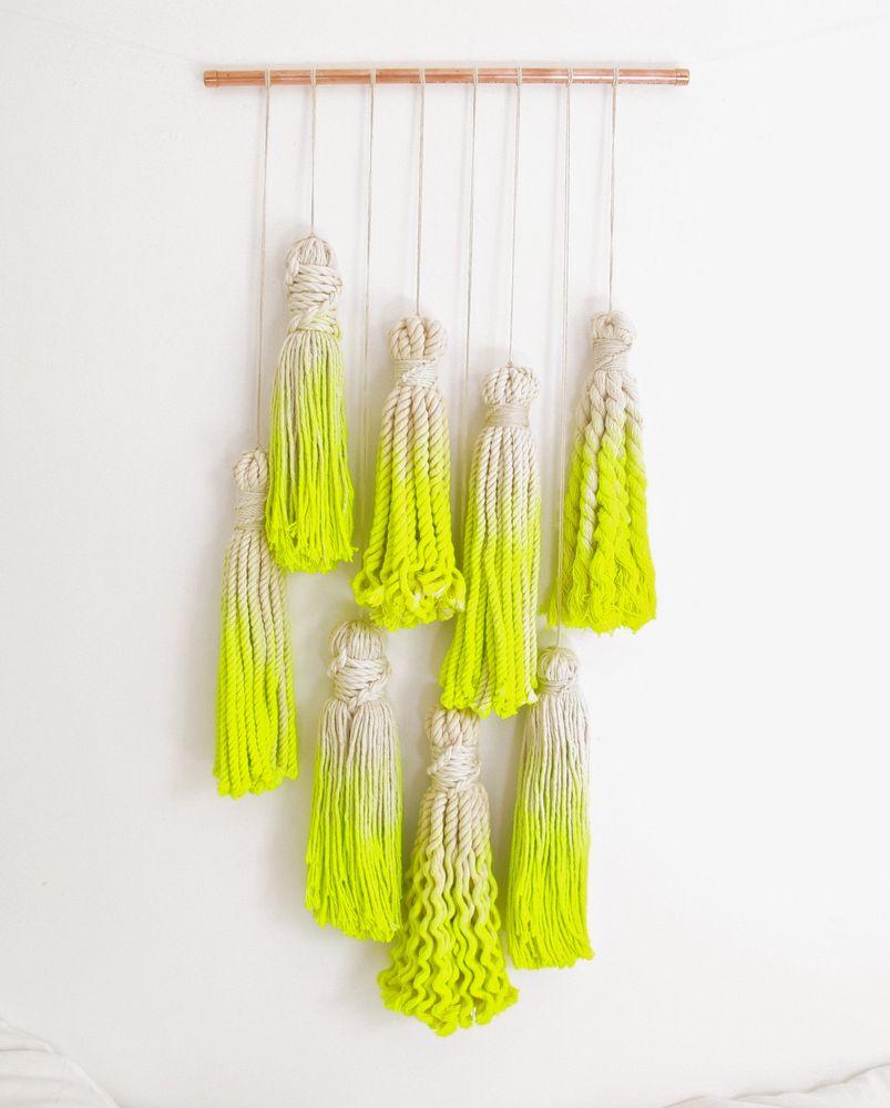 Macrame wall hanging via The Six Week Boutique. | textiles + fiber ...