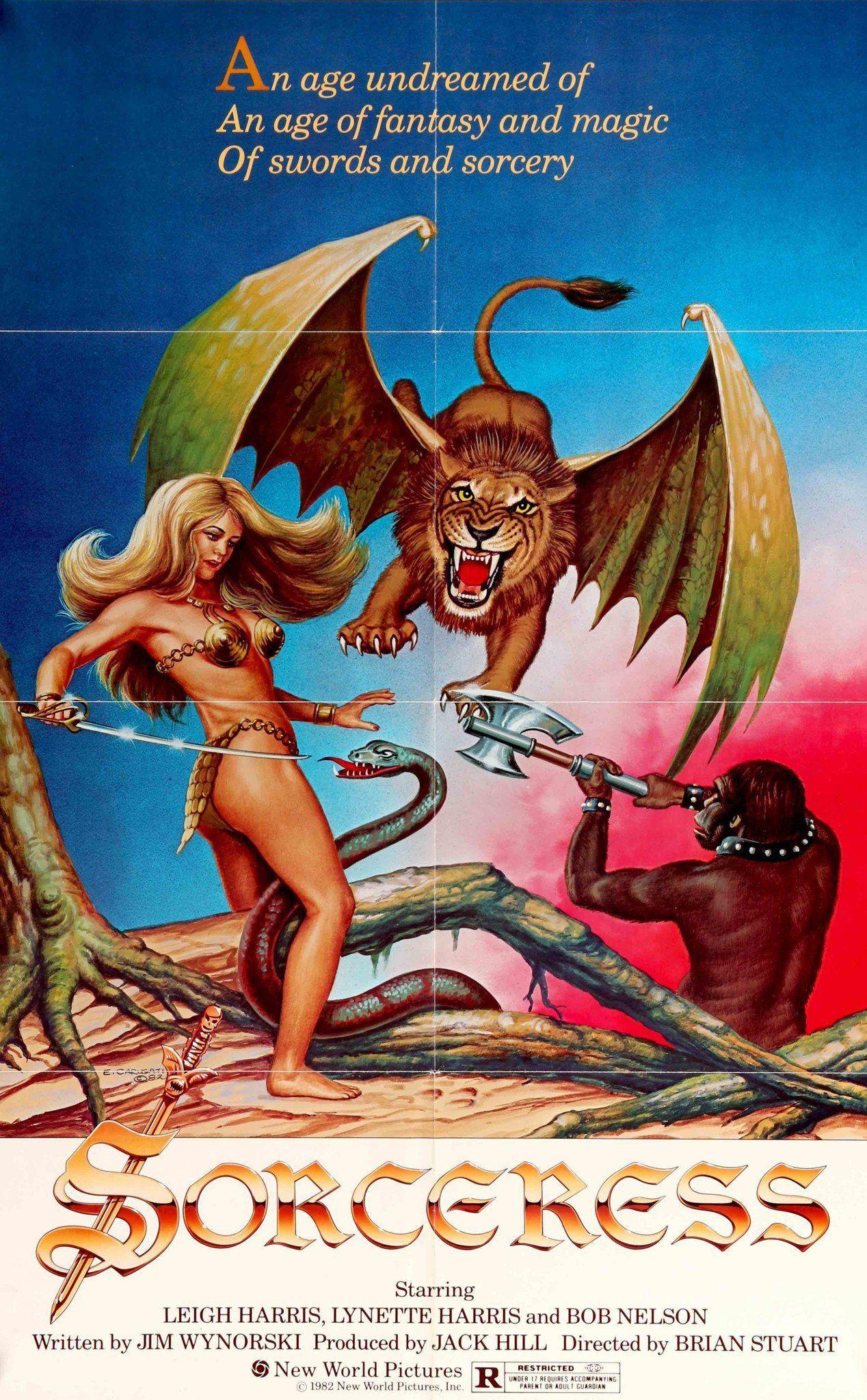 Sorceress 1982 Sword Sorcery Movie Posters Fantasy Movies