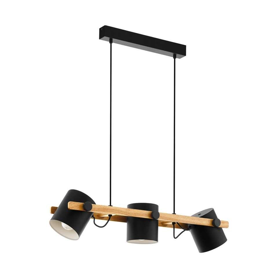 Eglo Hanglamp 3 Lichts Hornwood Zwart Goud Hanglamp Binnenverlichting Koperen Verlichting