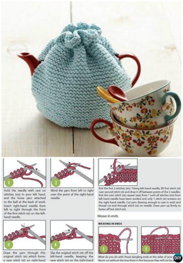 Beginner #Knit Tea Cozy Free Pattern-20 Crochet Knit Tea Cozy Free ...