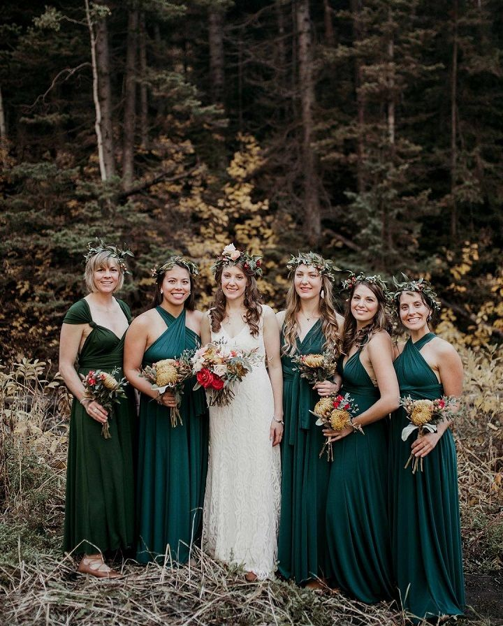 Meval Banquet Bridesmaid Dresses Wedding Bridesmaids Elegant Bride Green Dress