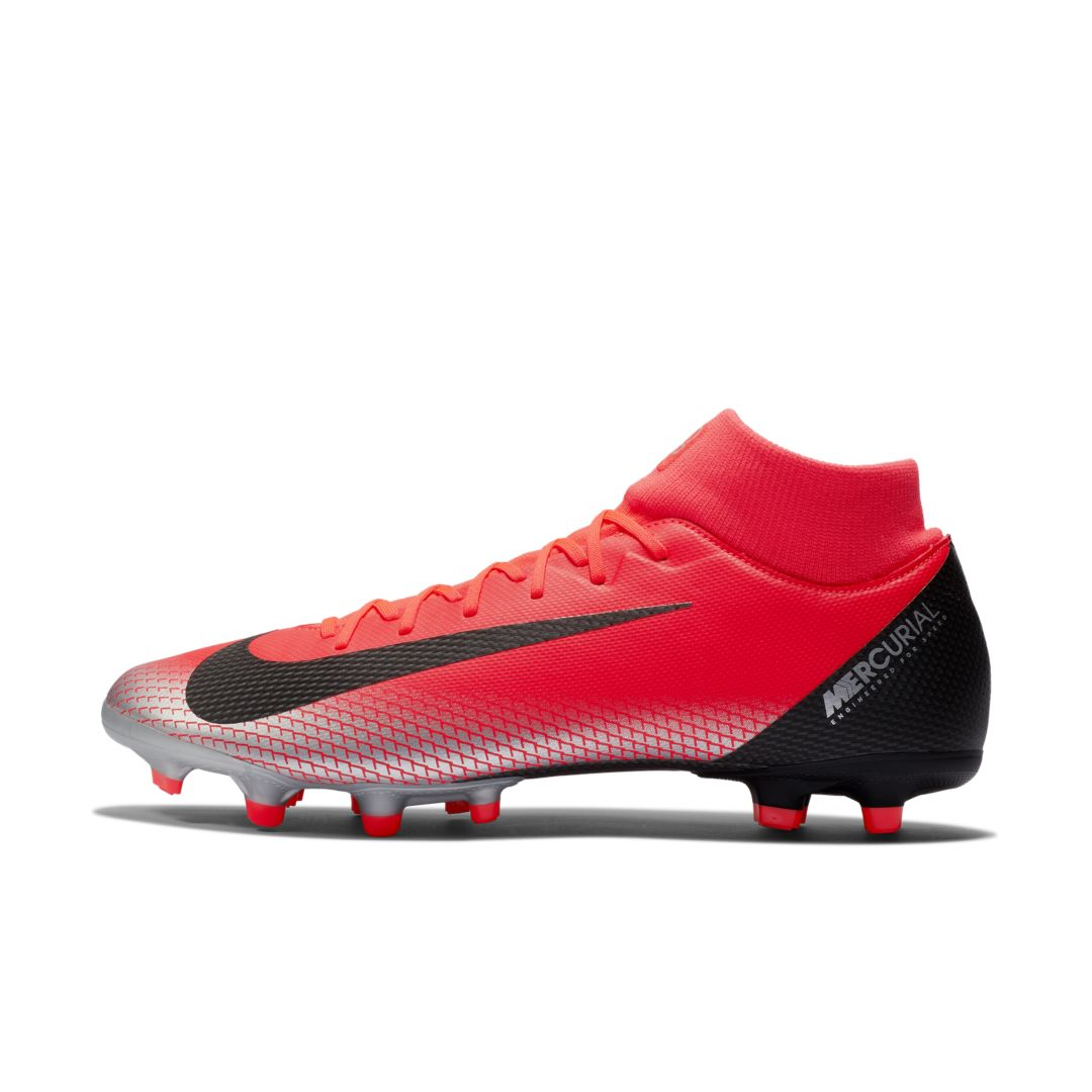 6d34f7345 Nike Mercurial Superfly VI Academy CR7 MG Multi-Ground Soccer Cleat Size  10.5 (Bright Crimson)