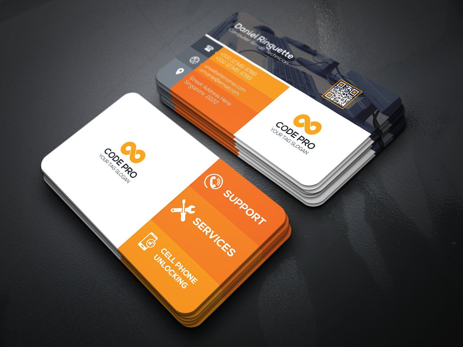 Computer Mobile Repair Business Card Business Card Template Personal Business Cards Card Template
