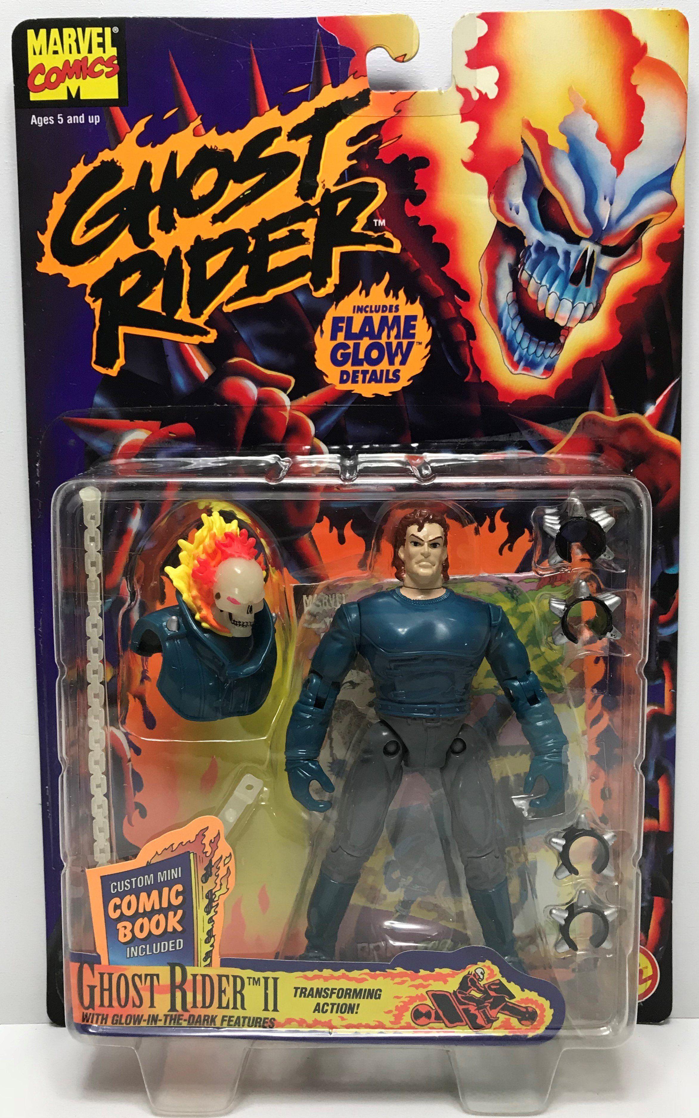 Marvel Comics 6/'/' Ghost Rider 2 Transforming Action Figure 1995 ToyBiz NEW