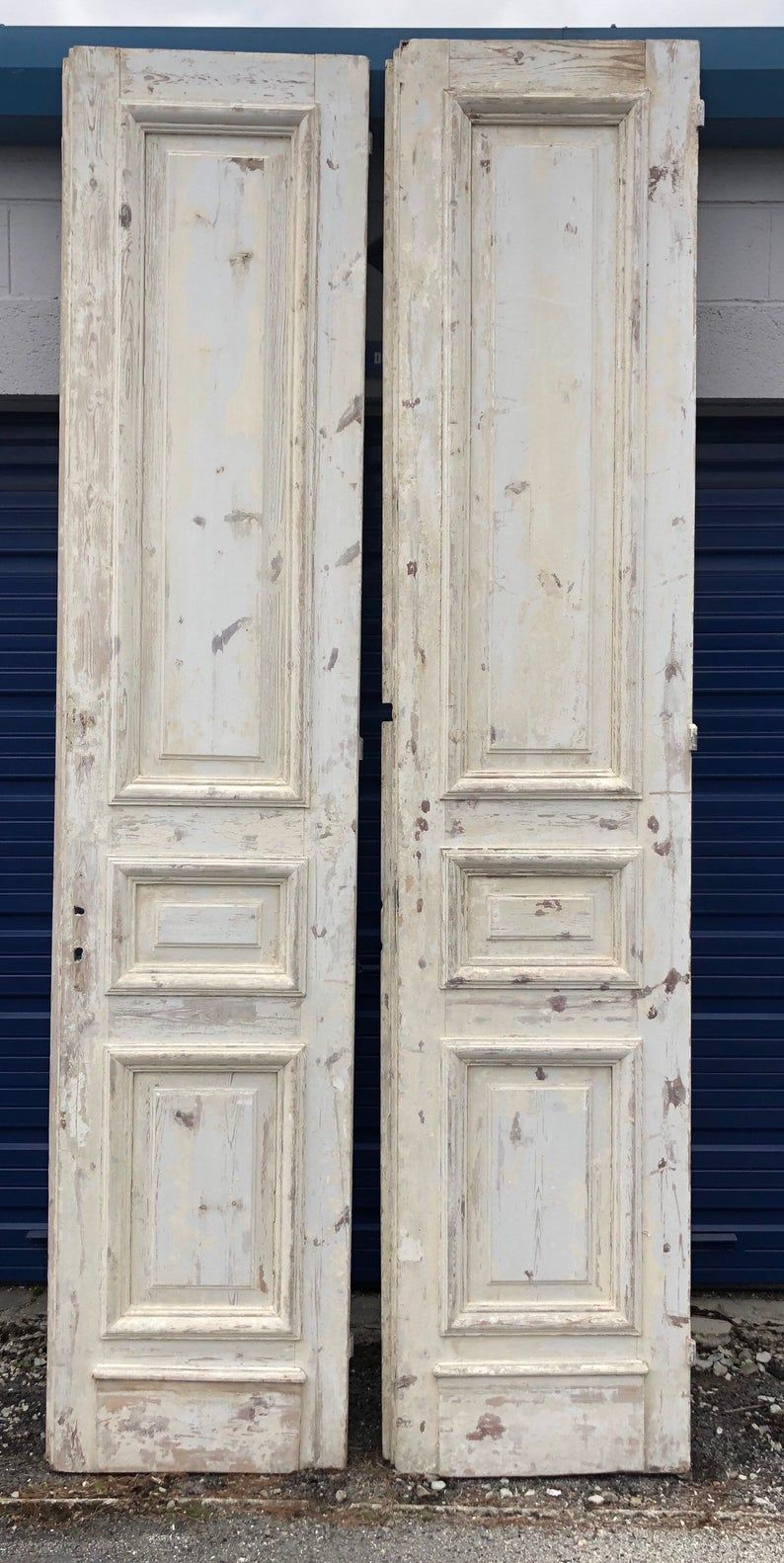 2 Antique French Doors White Painted 24w2d111h Shipping Is Not Etsy In 2020 Antique French Doors French Antiques French Doors