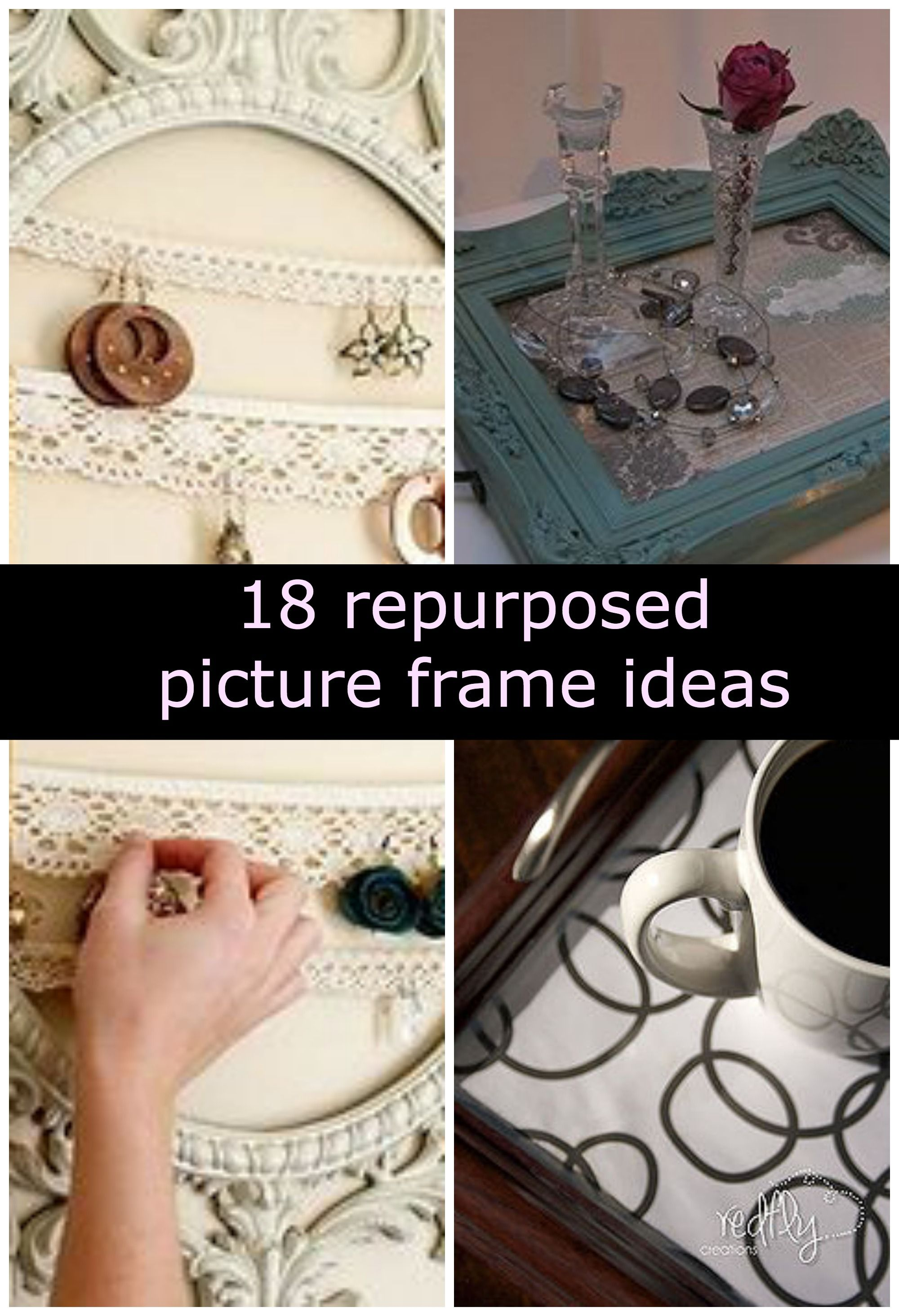Repurposed picture frames Idea Box by Cyndi @ The Decorating Chica ...