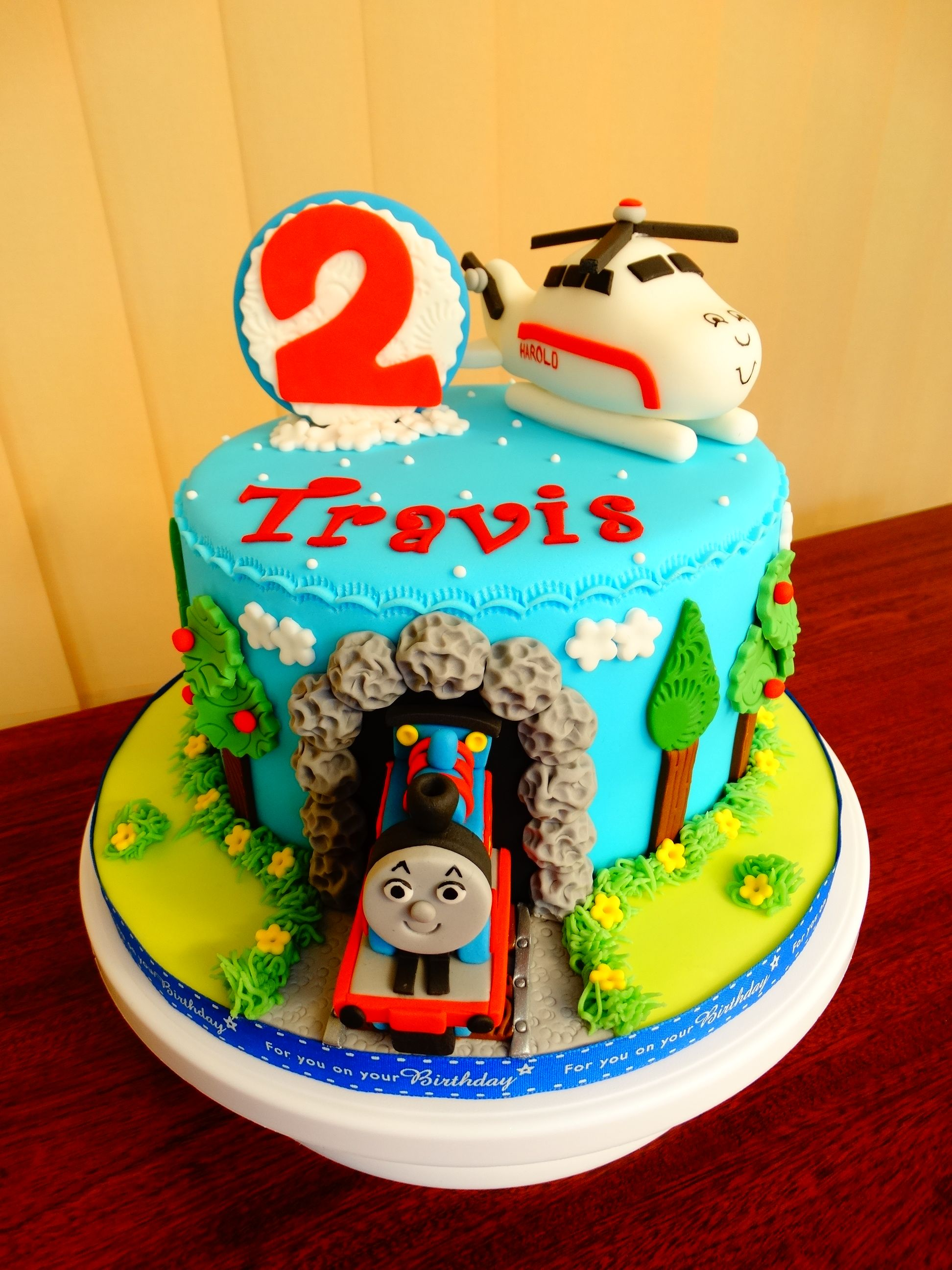 Thomas Train And Harold Helicopter Theme Cake Xmcx In 2019