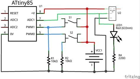 Schematic of 433mhz transmitter | Circuits