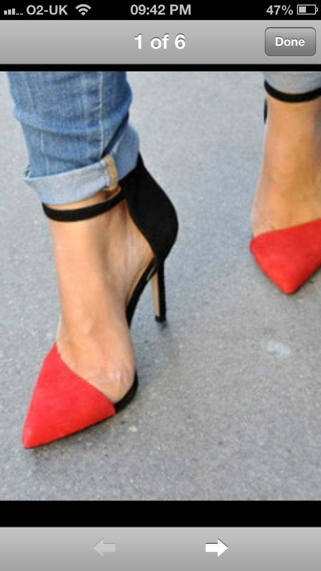 d113db69711 Zara vamp black red asymmetric suede pointed toe ankle strap heels us 7.5  eu 38