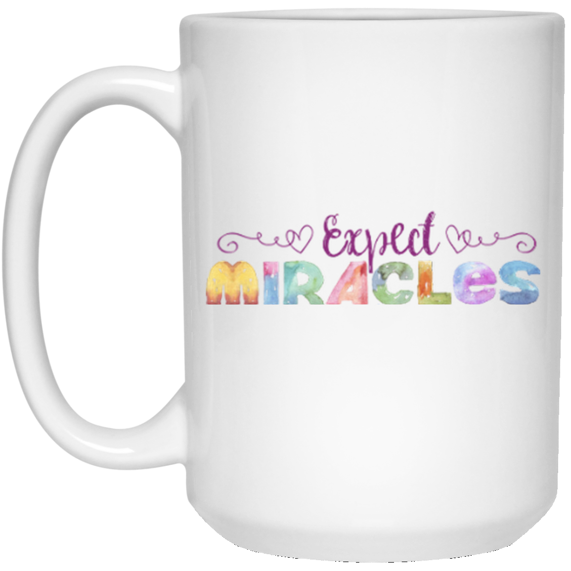 Expect Miracles - Coffee & Tea Mugs (Purple) #teamugs