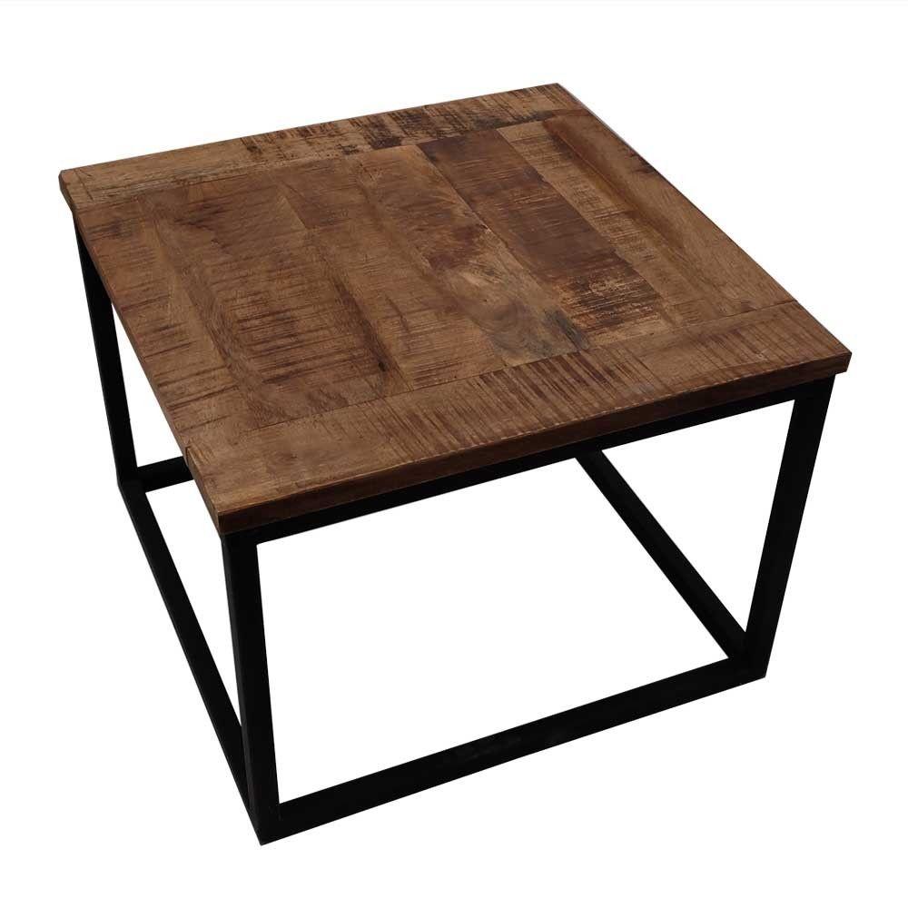 Bijzettafel Zwart Vierkant.Bijzettafel Box 60x60x45 Cm Salontafel Tafels En Hout