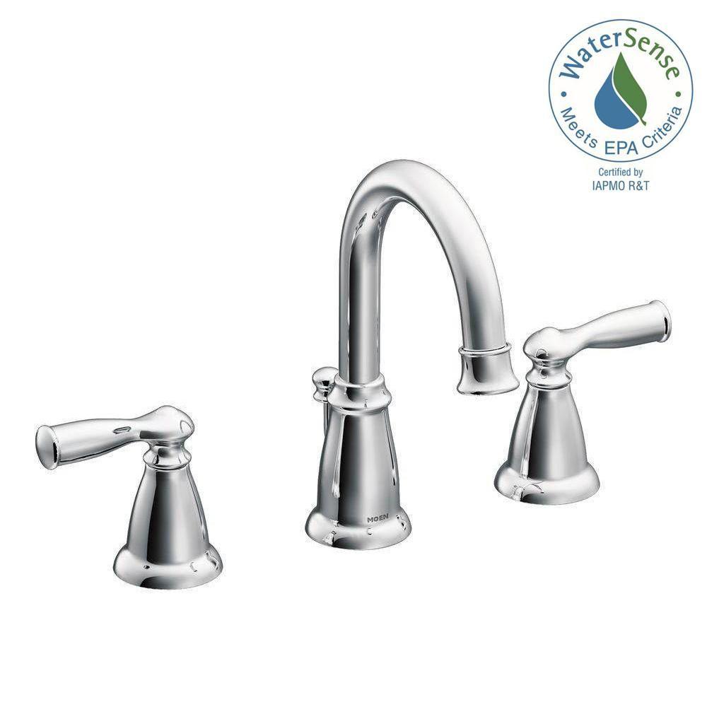 Moen banbury in widespread handle bathroom faucet in chrome