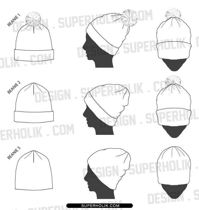 beanie template fashion vector templates in 2018 pinterest