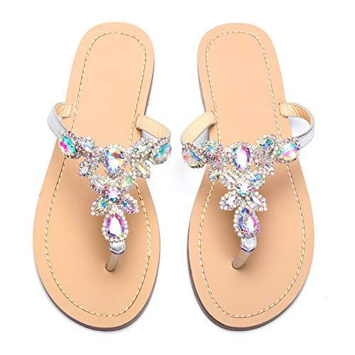 8e4f0b734 From  24.99 ~ azmodo Women s Silver Hand Crafted Flip Flop Rhinestones  Flats Sandals Y22  sandals  flats  flipflops  shoes  womenfashion