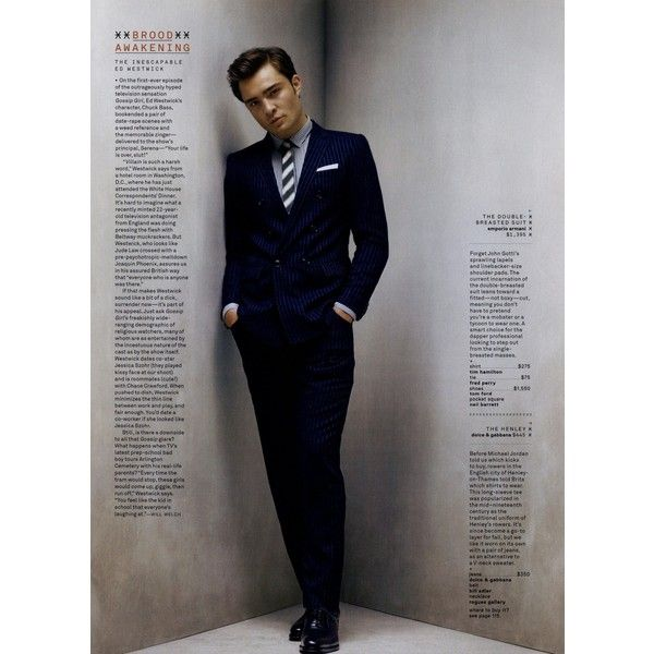 GQ Editorial The New Durables, July 2009 Shot #2 ❤ liked on Polyvore featuring ed westwick and editorials